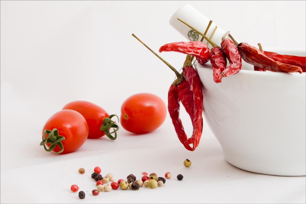Alles rot - Tomaten, Chili, Pfeffer