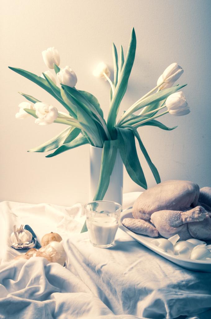 Stillleben mit Huhn